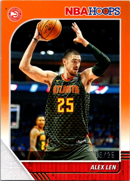 2019-20 Panini NBA Hoops Orange /25 Alex Len Atlanta Hawks