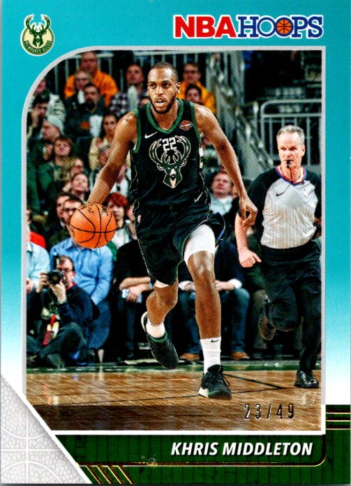2019-20 Panini NBA Hoops Blue /49 Khris Middleton Milwaukee Bucks