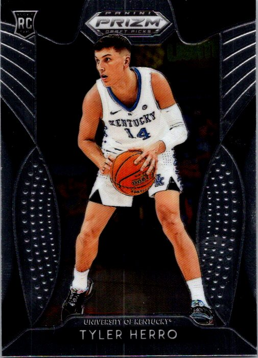 2019 Panini Prizm Draft Picks Tyler Herro Rookie Card Miami Heat