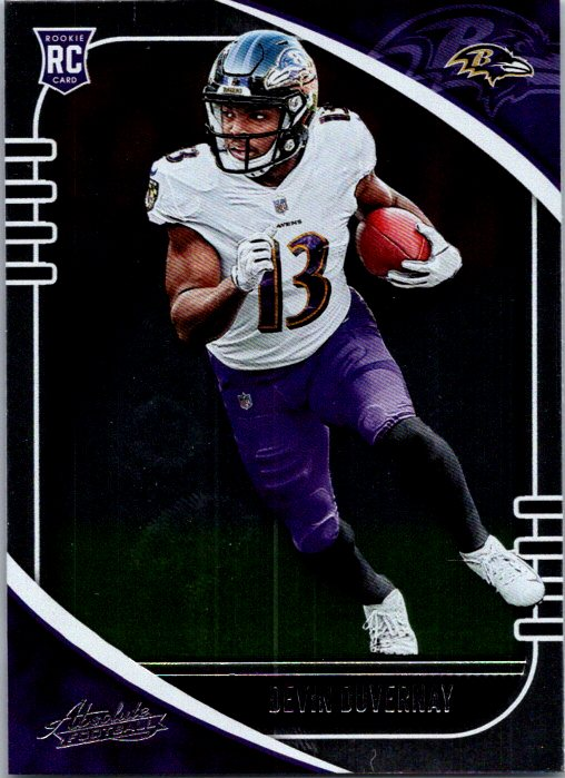 2020 Panini Absolute Devin Duvernay Rookie Card Baltimore Ravens