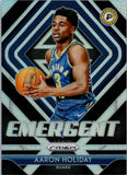 2018-19 Panini Prizm Silver Prizm Emergent Aaron Holiday Indiana Pacers