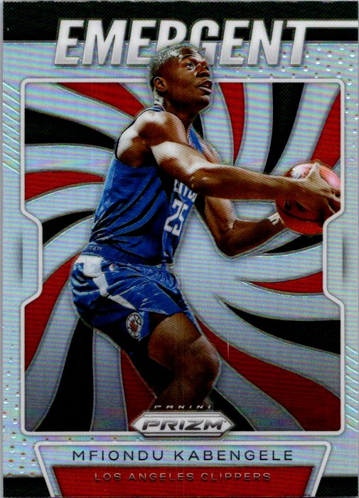 2019-20 Panini Prizm Silver Prizm Emergent Mfiondu Kabengele Los Angeles Clippers