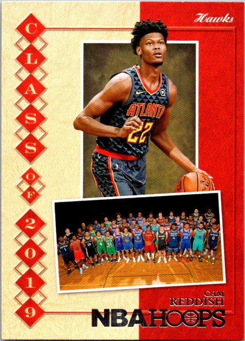 2019-20 Panini NBA Hoops Class Of 2019 Cam Reddish Atlanta Hawks