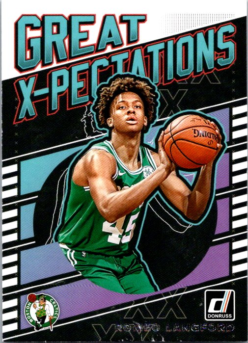 2019-20 Panini Donruss Great Xpectations Romeo Langford Boston Celtics
