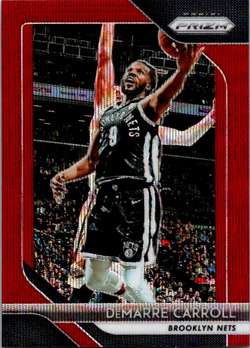 2018-19 Panini Prizm Red Wave Demarre Carroll Brooklyn Nets