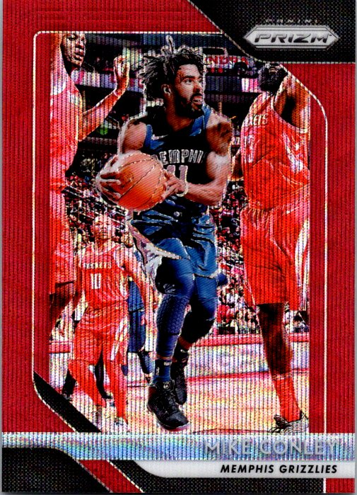2018-19 Panini Prizm Red Wave Mike Conley Memphis Grizzlies