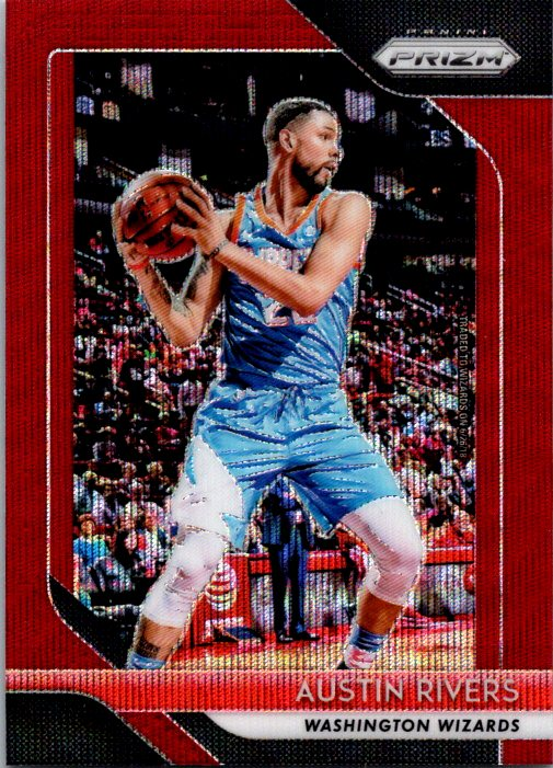 2018-19 Panini Prizm Red Wave Austin Rivers Washington Wizards