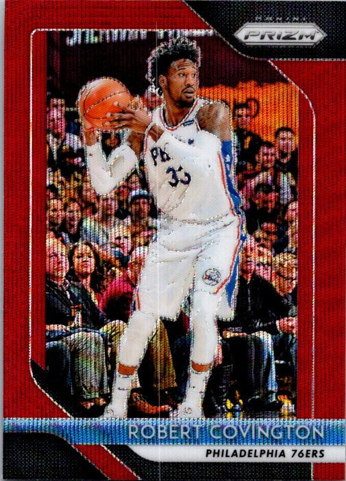2018-19 Panini Prizm Red Wave Robert Covington Philadelphia 76ers