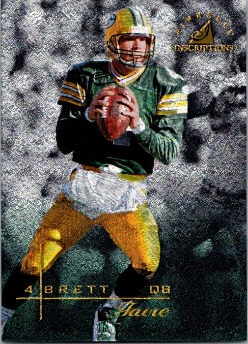 1997 Pinnacle Inscriptions Brett Favre Green Bay Packers