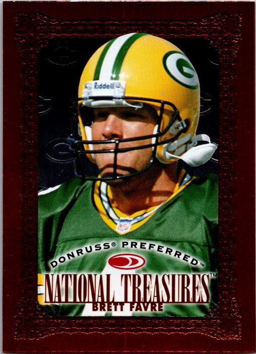 1997 Donruss Preferred National Treasures Brett Favre Green Bay Packers