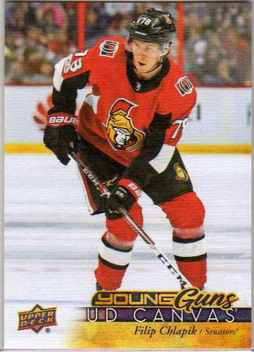 2017-18 Upper Deck Canvas Young Guns Filip Chlapik Ottawa Senators