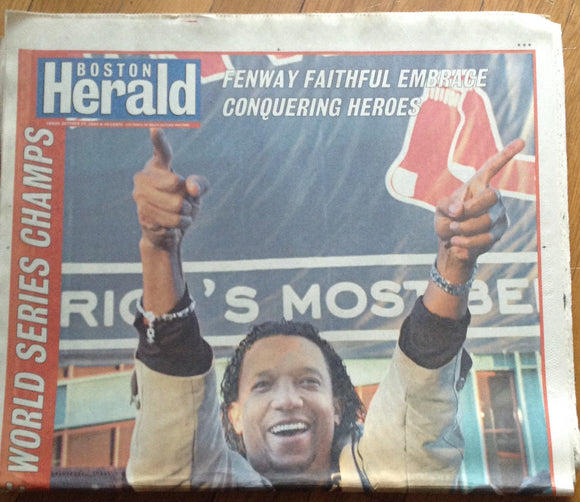 Boston Red Sox 2004 World Series The Boston Herald Entire Newspaper 10-29-04 - JM Collectibles