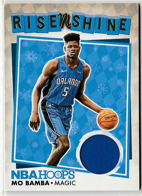 2018-19 Panini Hoops Rise N Shine Snowflake Parallel Mo Bamba Game Used Jersey C
