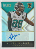 2014 Select Prizm Rookie Autographs /99 Allen Hurns Jaguars Cowboys