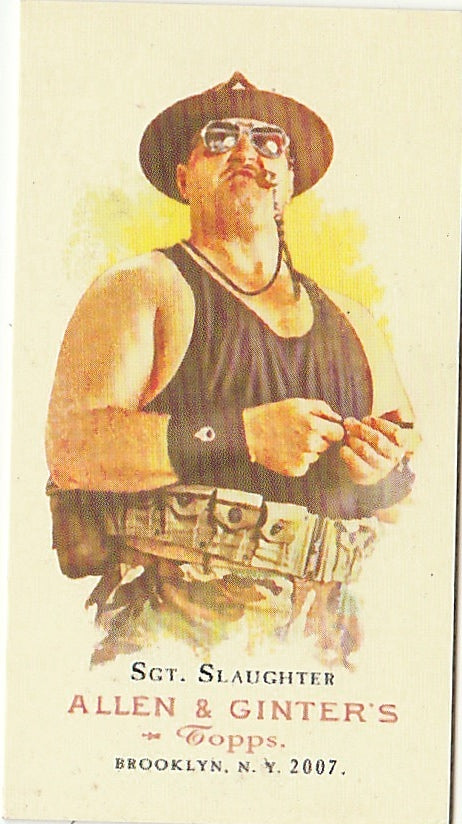 2007 Topps Heritage III WWE Allen And Ginter Legends Sgt Slaughter