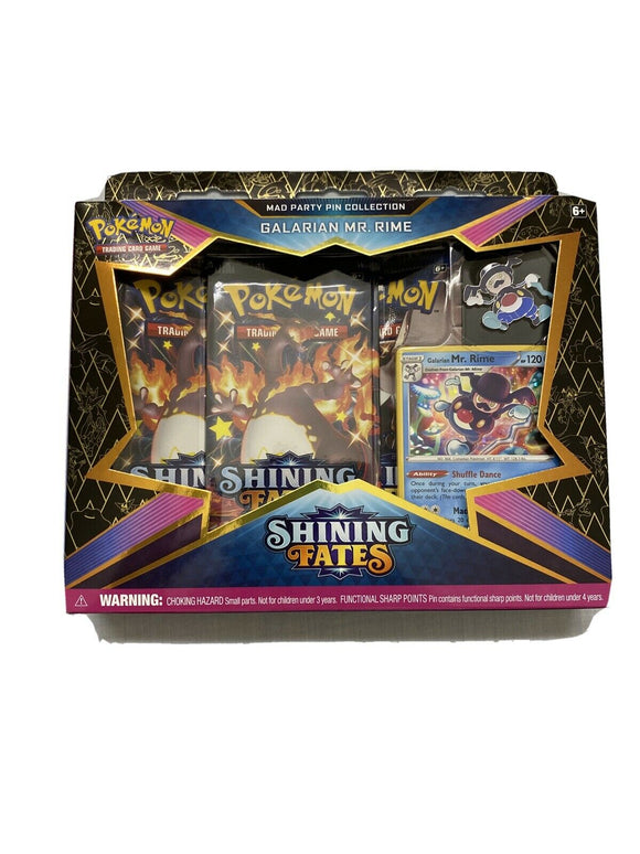 Pokemon TCG Shining Fates Mad Party Pin Collection Galarian Mr. Rime Sealed