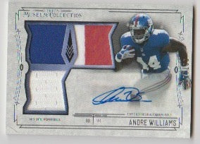 2014 Topps Museum Collection Signatures Swatches Triple Relic Autograph /200 Andre Williams New York Giants