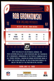 2018 Donruss Optic Rob Gronkowski New England Patriots