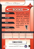 2000 Donruss Elite /2000 Mareno Philyaw Rookie Card Atlanta Falcons