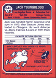 2001 Topps Archives Reserve Jack Youngblood 1973 Reprint Los Angeles Rams