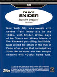 2011 Topps Lineage Duke Snider Brooklyn Dodgers