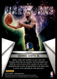2018-19 Panini Prizm Fireworks Prizms Hyper Dennis Smith Jr Dallas Mavericks