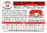 2001 Topps Archives Reserve Reprint Alan Ameche 56 Baltimore Colts