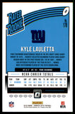 2018 Donruss Optic Kyle Lauletta Rated Rookie Card New York Giants
