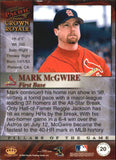 1998 Pacific Crown Royale Pillars Of The Game Mark McGwire St Louis Cardinals