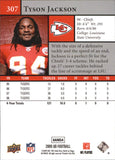 2009 Upper Deck Tyson Jackson Rookie Card Kansas City Chiefs