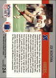 1990 Pro Set Super Bowl MVP Joe Montana San Francisco 49ers