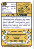 2001 Topps Archives Reserve Reprint 74 John Hannah New England Patriots