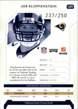2006 Playoff Silver Proof /250 Joe Klopfenstein Rookie Card St Louis Rams