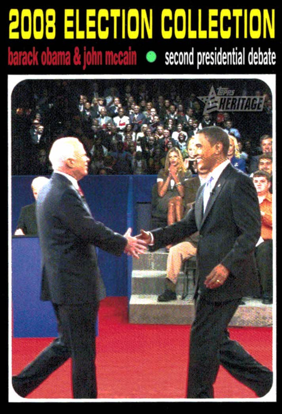 2009 Topps Heritage Barack Obama John McCain Second Presidential Debate - JM Collectibles