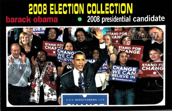 2009 Topps Heritage Barack Obama Presidential Candidate United States - JM Collectibles