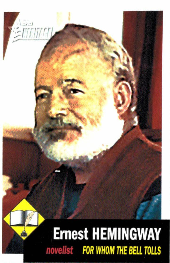 2009 Topps Heritage  Ernest Hemingway Novelist For Whom The Bell Tolls - JM Collectibles
