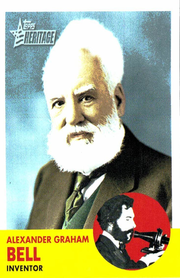 2009 Topps Heritage Alexander Graham Bell Inventor - JM Collectibles