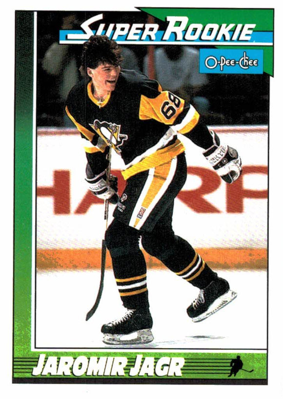 1991 O Pee-Chee Jaromir Jagr Super Rookie Pittsburgh Penguins - JM Collectibles