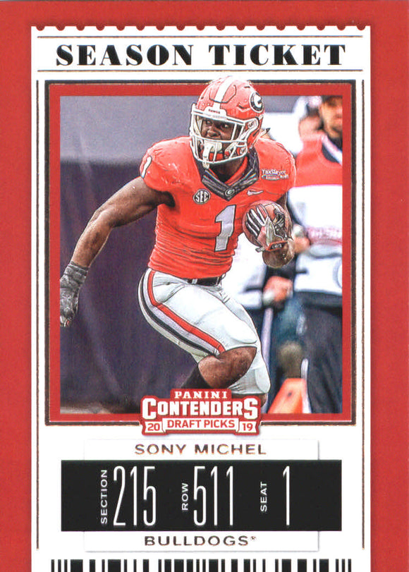 2019 Panini Contenders Draft Picks Sony Michel New England Patriots