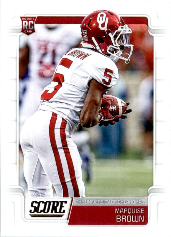2019 Score Marquise Brown Rookie Card Baltimore Ravens