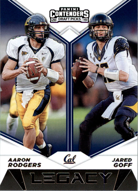 2019 Panini Contenders Draft Picks Legacy Aaron Rodgers Jared Goff Packers Rams