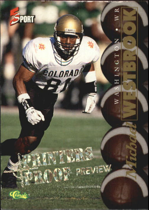 1995 Classic Five Sport Previews Michael Westbrook Washington Redskins