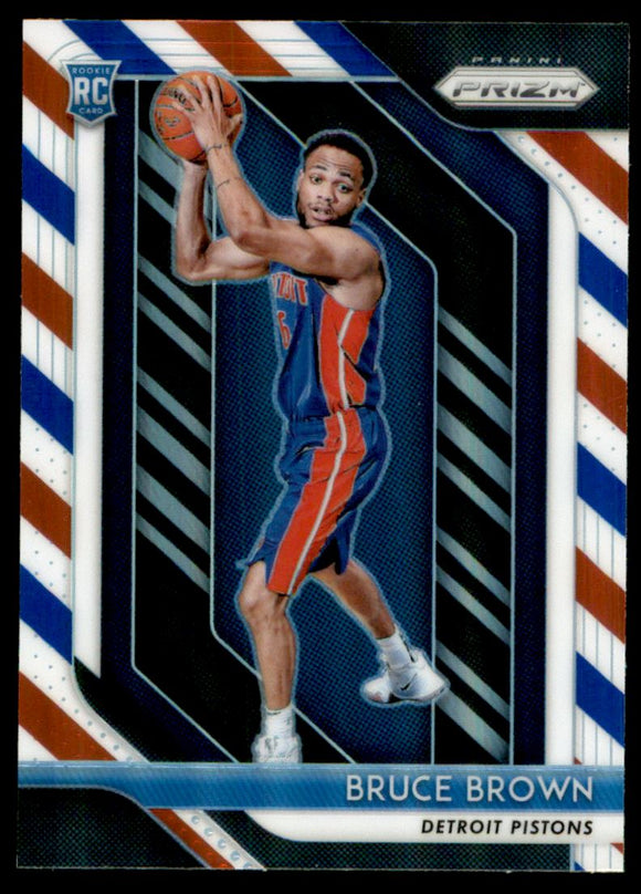 2018-19 Panini Prizm Prizms Red White Blue Bruce Brown Rookie Detroit Pistons