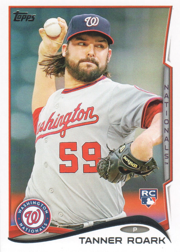 2014 Topps Tanner Roark Rookie Card Washington Nationals