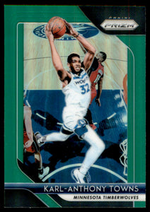 2018-19 Panini Prizm Prizms Green Karl-Anthony Towns Minnesota Timberwolves