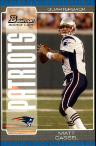 2005 Bowman Matt Cassel Rookie Card New England Patriots
