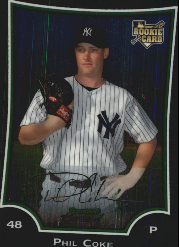 2009 Bowman Chrome Phil Coke Rookie Card New York Yankees