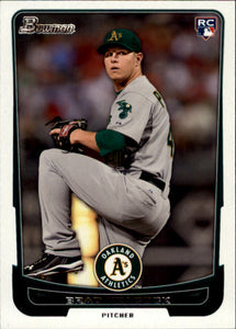 2012 Bowman Brad Peacock Rookie Card Oakland Athletics