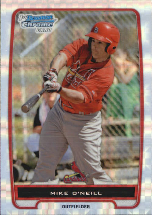 2012 Bowman Chrome Prospects Xfractor Mike O'Neill St Louis Cardinals