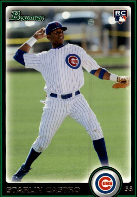 2010 Bowman Draft Starlin Castro Chicago Cubs